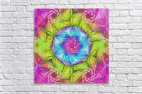 Spirals Kaleidoscope Ciclamen Lame  Acrylic Print