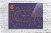 1979 Auburn Tigers Jordan Hare Stadium Map  Acrylic Print