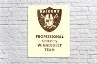 1983 Los Angeles Raiders  Acrylic Print