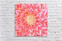 Red Flower Mandala Handdrawing   Acrylic Print