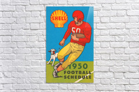 1950 shell oil football schedule poster  Acrylic Print