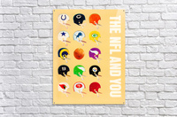 1963 vintage nfl helmets reproduction art  Acrylic Print