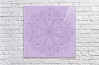 lilac mandala  Acrylic Print