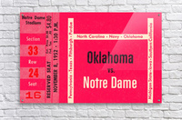 1952 Oklahoma vs. Notre Dame 1st National TV Game  Acrylic Print