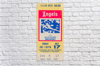 1981 california angels baseball ticket stub sports wall art  Acrylic Print