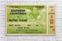 1941 usc notre dame football ticket wall art sports gift ideas south bend indiana  Acrylic Print