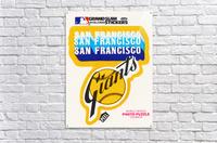 1979 fleer hi gloss san francisco giants sticker poster  Acrylic Print