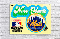 1979 fleer hi gloss sticker new york mets wall art  Acrylic Print