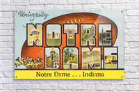 1954 notre dame football south bend art  Acrylic Print