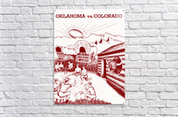 1954 oklahoma sooners colorado buffaloes football program canvas artwork  Acrylic Print