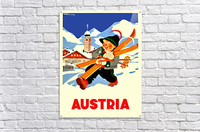 Little Skier from Austria  Acrylic Print