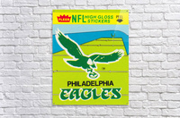 1981 fleer nfl high gloss stickers philadelphia eagles wall art  Acrylic Print