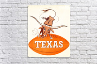1957 texas longhorns vintage football art  Acrylic Print
