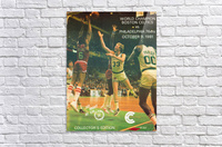 1981 boston celtics philadelphia 76ers larry bird art  Acrylic Print