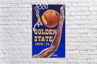 1974 golden state warriors basketball art murray olderman artist  Acrylic Print
