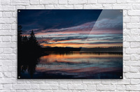 Couleurs sur le lac  Impression acrylique