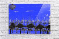Trees vs sun blue  Acrylic Print