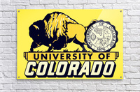1950s vintage college art university of colorado buffaloes boulder  Acrylic Print