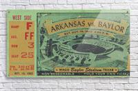 1953 arkansas baylor football ticket wall art  Acrylic Print