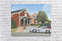 Town Hall and Store - Newtown Series 16X20   Acrylic Print