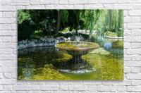 Refreshing Summer - the Little Fisherman Fountain Cheerfully Splashing in the Sunshine  Acrylic Print