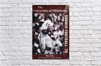 1979 billy sims oklahoma sooners football poster  Acrylic Print