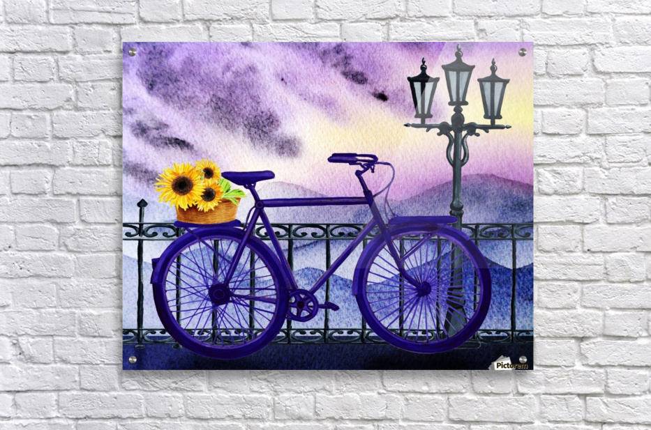 Bicycle And Sunflowers  Acrylic Print