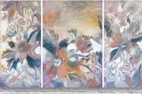 Riverton Wallpaper Tracings Triptych  Acrylic Print
