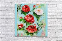 Roses on Aqua  Acrylic Print