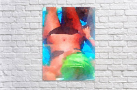 little black bikini  Acrylic Print
