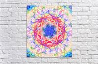 Psychedelic Art Hexagon Mandala Handdrawing  Acrylic Print