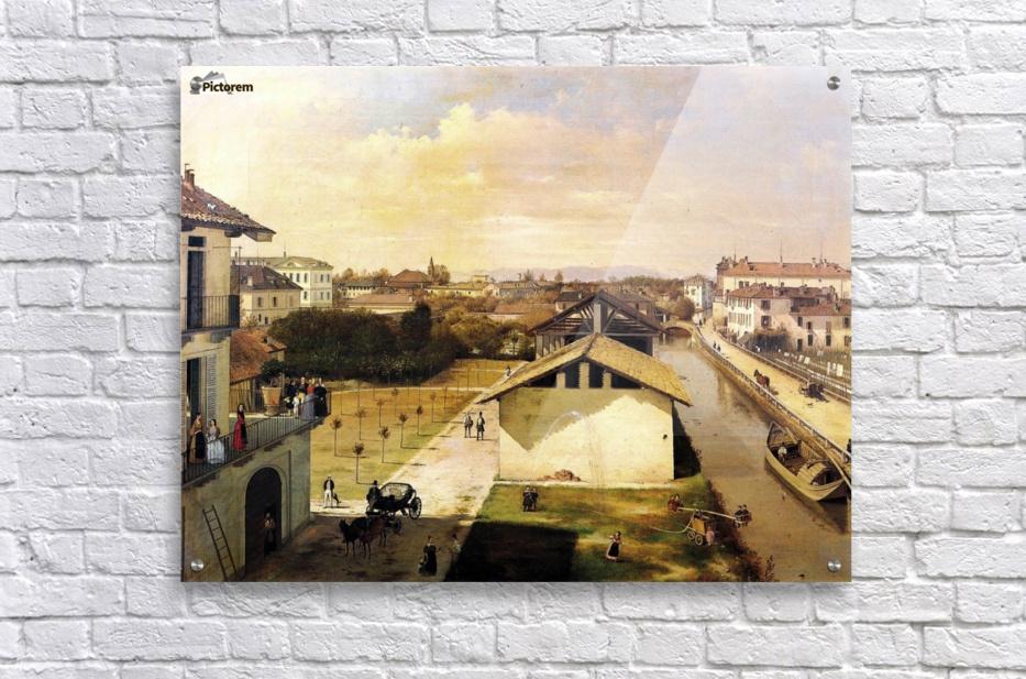 Veduta del Naviglio di San Marco dalla terrazza di Ca Medici, Milano, 1837  Acrylic Print