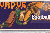 1929 purdue football art  Acrylic Print