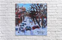 Montreal Est, Winter Scene  Acrylic Print