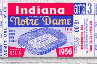 1956 Notre Dame vs. Indiana  Acrylic Print