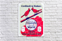 1926 World Series Score Card  Acrylic Print