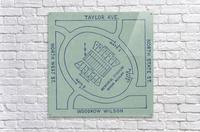1956 Memorial Stadium Map Jackson MS  Acrylic Print