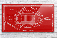 1937 Camp Randall Stadium Map  Acrylic Print