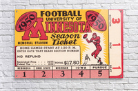 1950 University of Minnesota Season Ticket  Acrylic Print