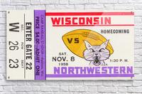1958 Wisconsin vs. Northwestern  Acrylic Print