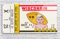 1958 Wisconsin vs. Purdue  Acrylic Print