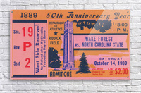 1939 NC State vs. Wake Forest  Acrylic Print