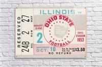 1953 Ohio State vs. Illinois  Acrylic Print