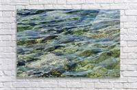 Close up of water on shore of slovenian resort town Piran Slovenia  Acrylic Print