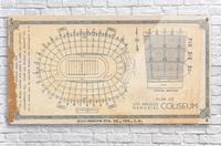 1933 LA Coliseum Map Art  Acrylic Print