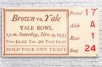 1935 Brown vs. Yale  Acrylic Print