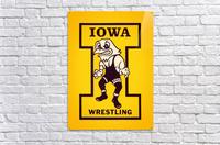 Vintage Iowa Wrestling Art  Acrylic Print