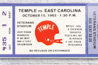 1983 Temple vs. East Carolina  Acrylic Print