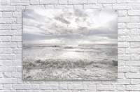 Rough and stormy sea at dusk, Charmouth, Dorset, UK  Acrylic Print