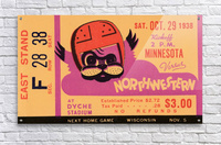 1938 Northwestern vs. Minnesota  Acrylic Print